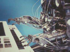 Robot and Piano